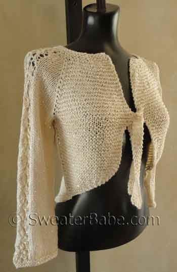High Low Glamorous Top-Down Cardigan Knitting Pattern