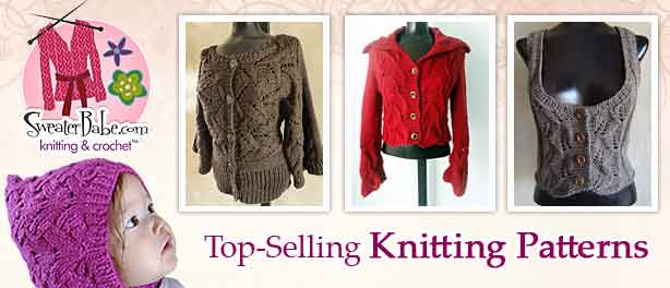 Top-Selling knitting pattern from SweaterBabe.com