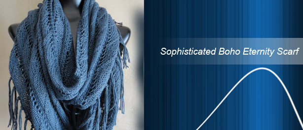 Sophisticated Boho Eternity Scarf Knitting Pattern
